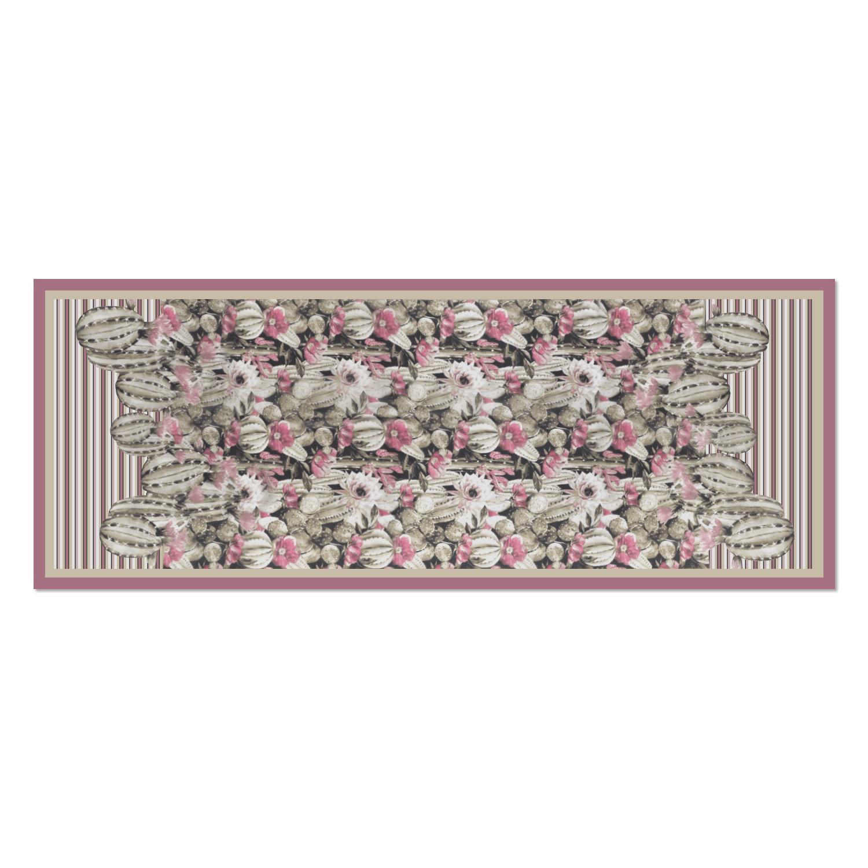 100% silk scarf cactus print 57515 - V2