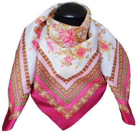 fushia gold scarf